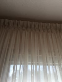 Beautiful off white curtains, triple pleats, with valence Toronto, M9C 3S9
