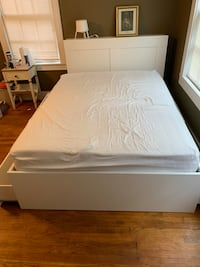 Bed frame, mattress, and Headboard Columbia