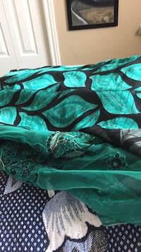 green and black floral textile Surrey, V3S 6M5