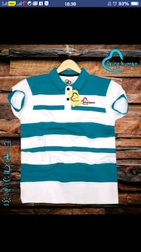 blue and white striped polo shirt Ahmedabad, 380015