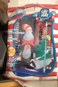 Airblown Inflatable Christmas lawn decoration will trade for a fishing rod and tackle box. Toronto, M9N