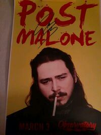 !!POST MALONE AUTOGRAPHED CONCERT POSTER!!