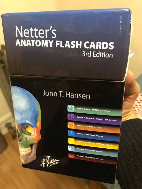 Used Netters Anatomy Flash Cards For Sale In New York Letgo
