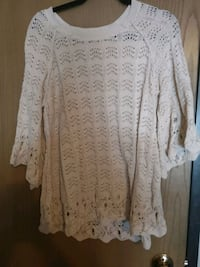 women's white boat neck knitted long-sleeved top West Fargo, 58078
