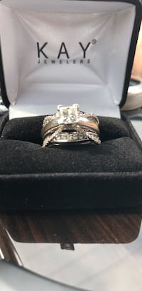 Silver diamond ring with box Laurel, 20723