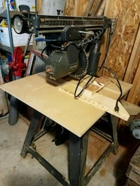 2 Radial arm saws & 1 table saw Elgin