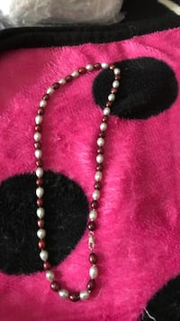 Mother's Day special dark pink & white culture pearl necklace Killeen, 76542