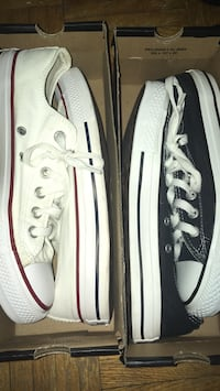 two pairs of Converse All-Star sneakers with boxes Toronto, M9W 4V1