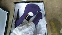 pair of purple suede platform stiletto shoes with  70 km