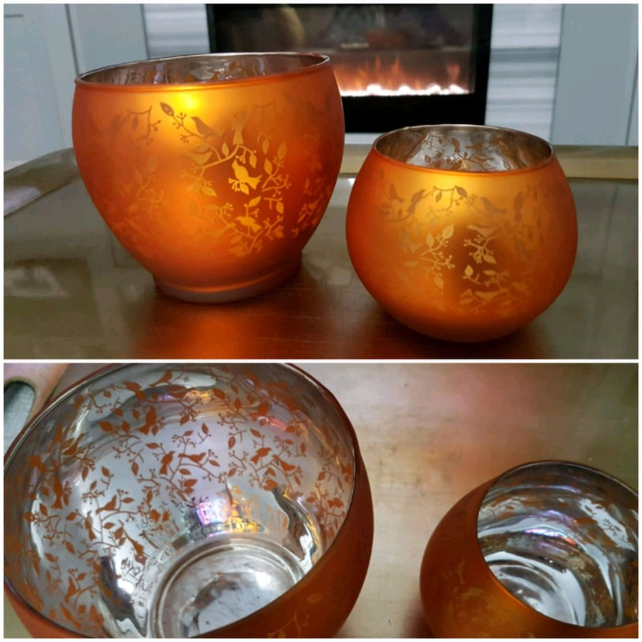 Beautiful SET of candle holders!