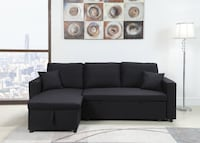 Sectional sofa w/ pull out bed & chaise storage Moreno Valley, 92557