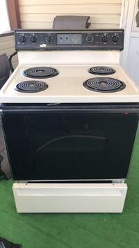 White and black electric coil range oven. Works great just upgraded and decided to sell Cross Junction, 22625