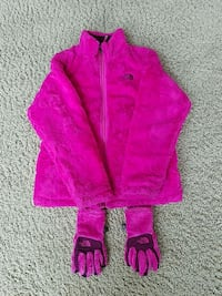 The North Face Girls Jacket and Gloves Large (14/16) Parker, 80138