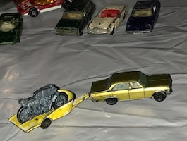 Vintage 1970 MatchBox lesney car and motorcycle trailer