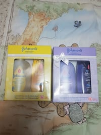 New and sealed Johnson's toiletries sets