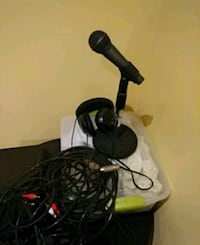 Microphone, base, all wires, connector to guitars. Mississauga, L5E 2H8