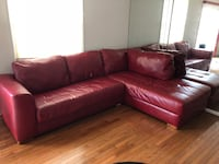 Red Leather Couch Gaithersburg, 20878