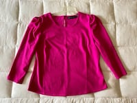 NY&C Puffed-Sleeve Scoop Neck Top (L) Catonsville