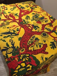 """Handmade 85"""" by 90"""" tree of life tapestry, bed cover. New with tag Lutherville Timonium, 21093"""