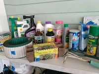 Gardening tools and fertilizers