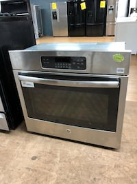 GE stainless steel wall oven