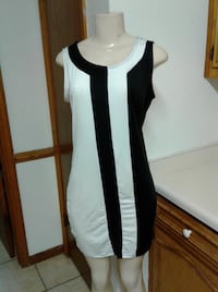 black and white scoop-neck tank mini dress Augusta, 30906