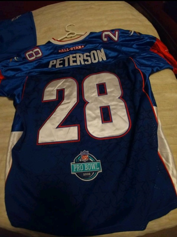 outlet store fc5ab e3de5 Used Adrian Peterson Vikings Probowl jersey. Reebok 2xl for ...
