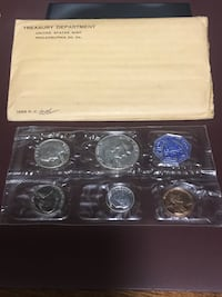 1956 US proof silver coin set