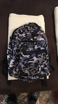 gray, white, and black camouflage backpack Atlantic City, 08401