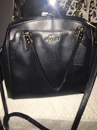 black leather Coach tote bag Toronto, M6J 2Y2