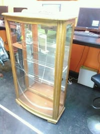 brown wooden framed glass display cabinet Milford, 06461