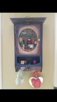 brown wooden framed display cabinet Duluth, 30096