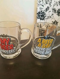 New beer glasses. Two for $5. Toronto, M2M 4B9
