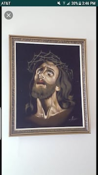 brown wooden frame of Jesus Christ portrait Clinton, 20735