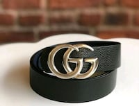 black Gucci leather belt with buckle Kitchener, N2P 1B9