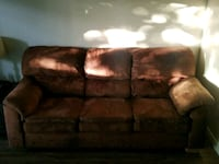 brown 3-seat sofa