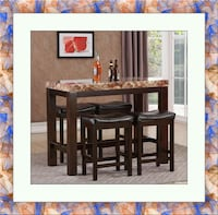 5pc pub table with 4 stools free delivery  Gaithersburg