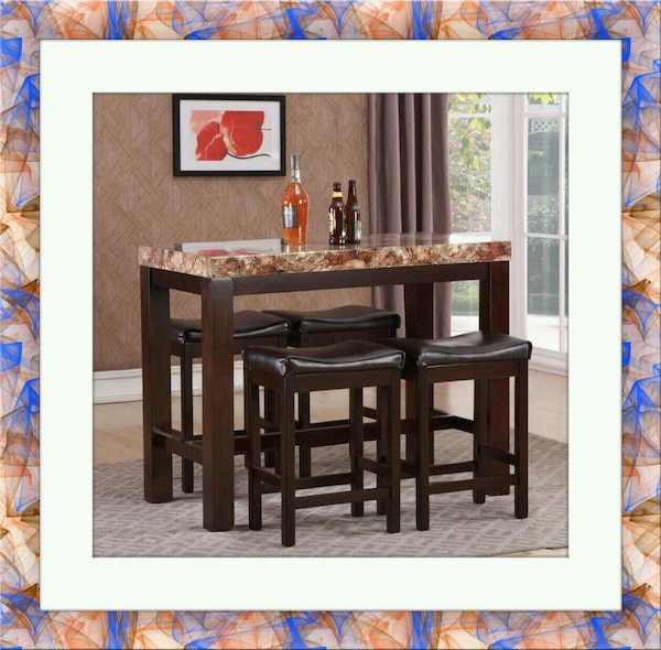 5pc pub table with 4 stools free delivery