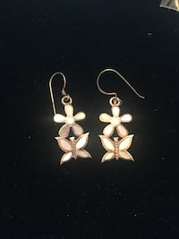 Sterling silver earrings with flowers and butterflies Toronto, M2R 3N1