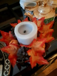 Candle holder with candle Laval, H7X