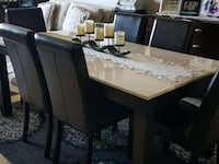 Marble table with 6 chairs Vaughan, L6A 2Y1