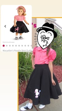 Girls Poodle skirt and top 2232 mi