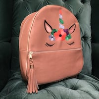 brown and pink floral backpack Laredo, 78041