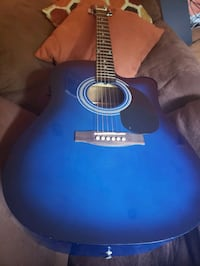 Spencer 6 String Acoustic and Electric Gutiar, Comes with Case