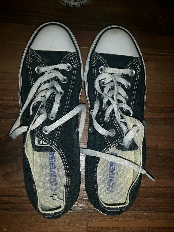 54e833a979b0db Used Nearly new Black ALL STAR Converse for sale in Toronto - letgo