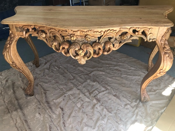 Excellent Hand Carved Wooden Console Table 6 Ft Wide Machost Co Dining Chair Design Ideas Machostcouk