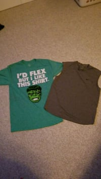 green and black crew-neck t-shirts Clear Spring, 21722