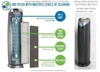 Germ Guardian AC4825CA 3-in-1 Air Purifier with True HEPA UV-Z & Odor Reduction - Black Mississauga, ON L4T 3Y9, Canada