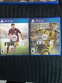 FIFA 17 and FIFA 17 PS4 game cases Guelph