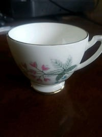 white and pink floral ceramic mug De Winton, T0L 0X0